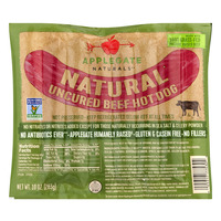 Applegate The Super Natural Beef Hot Dog Uncured Non-GMO - 6 ct