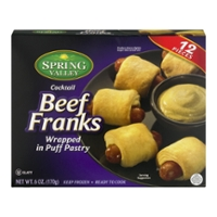 Spring Valley Cocktail Beef Franks Wrapped in Puff Pastry - 12 ct