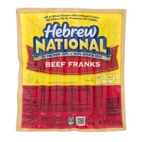 Hebrew National Beef Franks Kosher - 6 ct