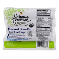 Nature's Promise Organic Beef Hot Dogs Uncured Grass-fed - 8 ct