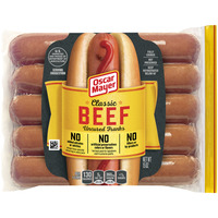 Oscar Mayer Franks Classic Uncured Beef - 10 ct