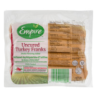 Empire Kosher Turkey Franks Fully Cooked - 8 ct