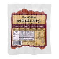 Boar's Head Simplicity Beef Franks Uncured All Natural - 6 ct