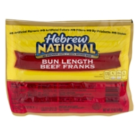 Hebrew National Beef Franks Bun Length - 6 ct