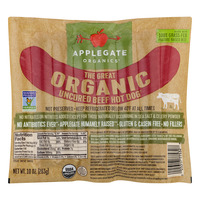 Applegate The Great Organic Beef Hot Dog Uncured Non-GMO - 6 ct