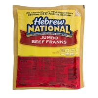 Hebrew National Beef Franks Jumbo Kosher - 4 ct