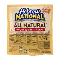 Hebrew National All Natural Uncured Beef Franks 100% Kosher Beef