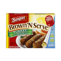 Banquet Brown 'N Serve Turkey Sausage Links - 10 ct Frozen