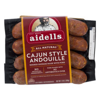 Aidells Pork Sausage Cajun Style Andouille Natural - 4 ct