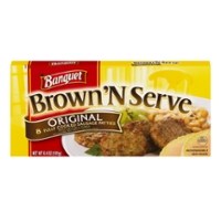 Banquet Brown 'N Serve Sausage Patties Original - 8 ct Frozen