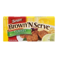 Banquet Brown 'N Serve Turkey Sausage Patties - 8 ct Frozen