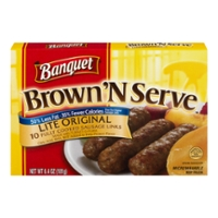 Banquet Brown 'N Serve Sausage Links Original Lite - 10 ct Frozen