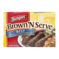 Banquet Brown 'N Serve Beef Sausage Links - 10 ct Frozen