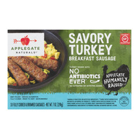 Applegate Naturals Breakfast Turkey Sausage Links Peppered Gluten Free