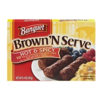 Banquet Brown 'N Serve Sausage Links Hot & Spicy - 10 ct Frozen