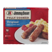 Jimmy Dean Pork Sausage Links Original Fully Cooked - 12 ct