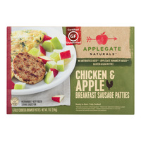 Applegate Naturals Breakfast Sausage Patties Chicken & Apple - 6 ct