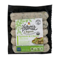 Nature's Promise Organic Chicken Sausage Spinach & Cheese - 5 ct Fresh