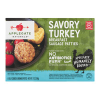 Applegate Naturals Peppered Turkey Breakfast Sausage Patties - 6 ct