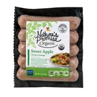 Nature's Promise Organic Chicken Sausage Sweet Apple - 5 ct Fresh