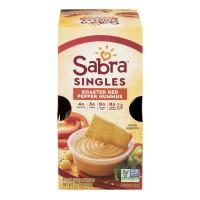 Sabra Singles Roasted Red Pepper Hummus - 6 ct