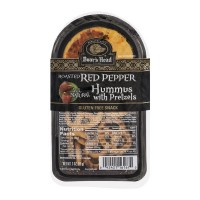 Boar's Head Hummus Roasted Red Pepper with Pretzels Gluten Free