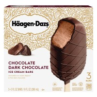 Haagen-Dazs Chocolate Ice Cream Bars Dark Chocolate - 3 ct