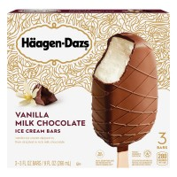 Haagen-Dazs Ice Cream Bars Vanilla Milk Chocolate - 3 ct