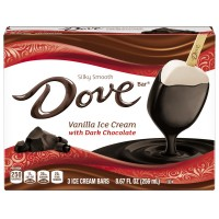 Dove Ice Cream Bars Vanilla with Dark Chocolate Coating - 3 ct
