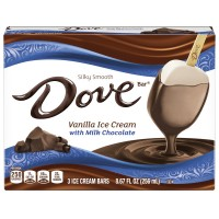 Dove Vanilla Ice Cream with Milk Chocolate Bars - 3 ct