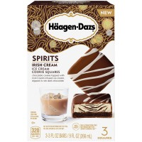 Haagen-Dazs Spirits Irish Cream Ice Cream Cookie Squares - 3 ct