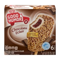 Good Humor Frozen Dessert Bar Chocolate Eclair - 6 ct