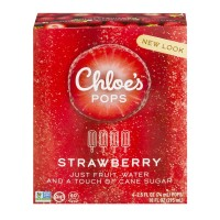 Chloe's Pops Strawberry - 4 ct