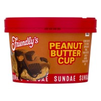 Friendly's Sundae Ice Cream Cup Reese's Peanut Butter