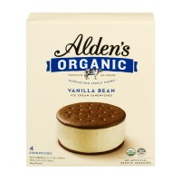 Alden's Organic Ice Cream Sandwiches Vanilla Bean - 4 ct