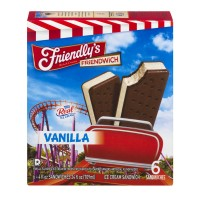 Friendly's Friendwich Ice Cream Sandwiches Vanilla - 6 ct