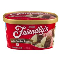 Friendly's Ice Cream Vanilla Chocolate Strawberry