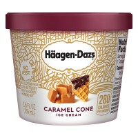 Haagen-Dazs Ice Cream Caramel Cone Single Serve