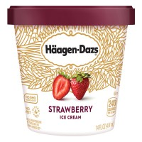 Haagen-Dazs Ice Cream Strawberry Gluten Free Non-GMO