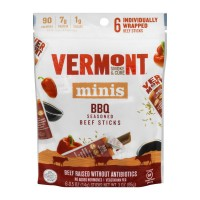 Vermont Smoke & Cure Minis Beef Sticks BBQ Seasoned - 6 ct