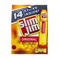 Slim Jim Smoked Snack Sticks Original - 14 ct