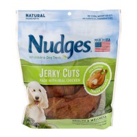 Nudges Jerky Cuts Dog Tender Treats USA Chicken Natural