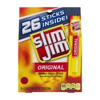 Slim Jim Smoked Snack Sticks Original - 26 ct