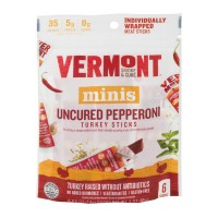 Vermont Smoke and Cure Minis Turkey Sticks Uncured Pepperoni Gluten Free