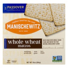 Manischewitz Matzos Whole Wheat Non-GMO Kosher for Passover