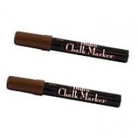 JAM Paper® Broad Point Chalk Marker, Brown, 2/Pack (526480BRa)