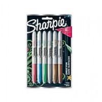 Sharpie Metallic Fine Point Permanent Markers, Assorted Colors, 6/Pk (2029678)