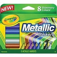 Crayola Marker, Conical Tip, Assorted Ink, 8/Pack