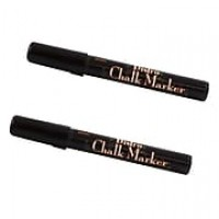 JAM Paper® Broad Point Chalk Marker, Black, 2/Pack (526480BAa)