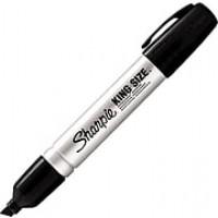 Sharpie King Size® Permanent Marker, Chisel Tip, Black (15001)